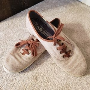 Keds Cream Wool Relaxed Sneaker Shoes